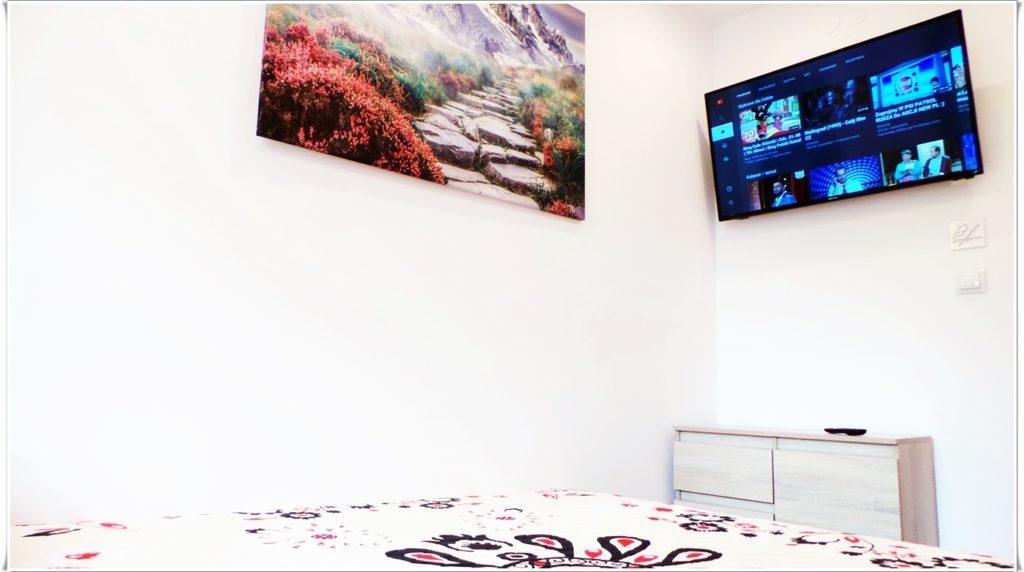 Sypialnia Apartament Wrzosowy wynajem apartamentów Zakopane Villa Vista
