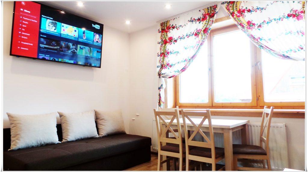 """Apartament GiewontTV LED 4K 65"""" WiFi Villa Vista Zakopane"""