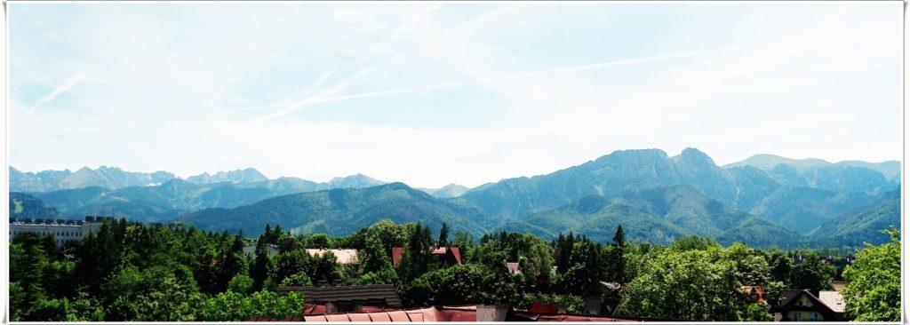 Panorama Tatr z okien Villa Vista Apartament Pokoje wynajem Zakopane